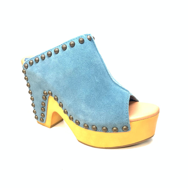 Dingo Denim Suede Studded Cuban Heel Slip On - Dudes Boutique