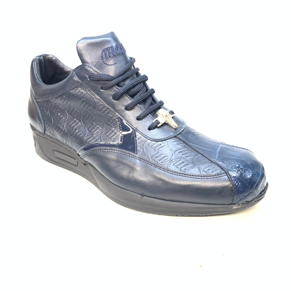 Mauri M770 Navy Crocodile Sneakers - Dudes Boutique