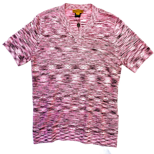 Prestige Fuschia V-Neck Shirt - Dudes Boutique