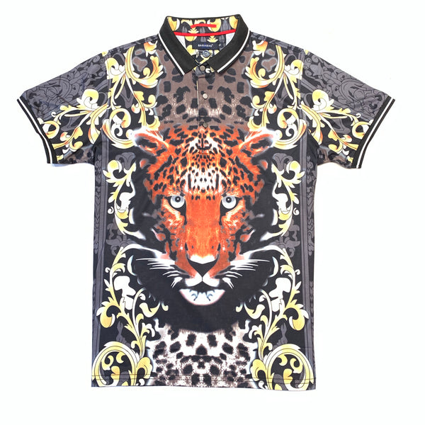 Barabas Cheetah Face Polo Shirt