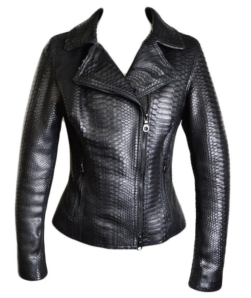 Dark 8 Fabric Finished Python Skin Jacket - Dudes Boutique