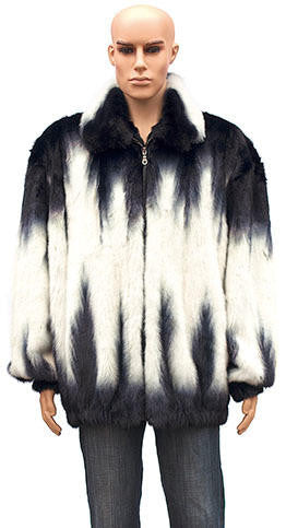 Winter Fur - M59R01WTT Black/White Mink Jacket - Dudes Boutique