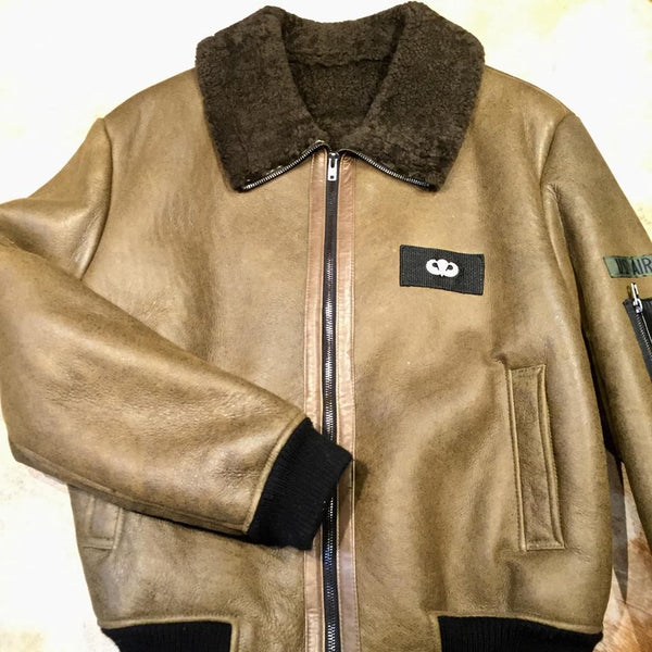 Shearling Army Green Bomber Jacket