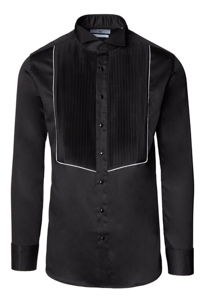 RNT23 PLEATED WING TIP COLLAR TUXEDO SHIRT