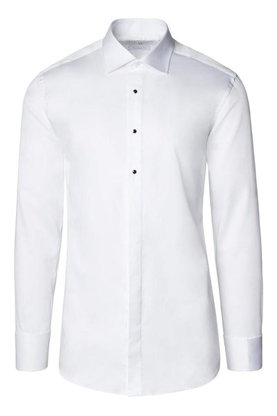 RNT23 WHITE REMOVABLE BUTTONED TUXEDO SHIRT - Dudes Boutique