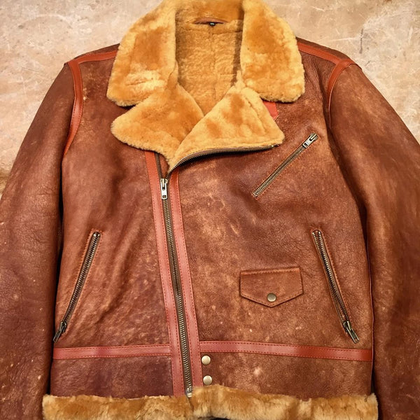 Shearling Maple Biker Jacket