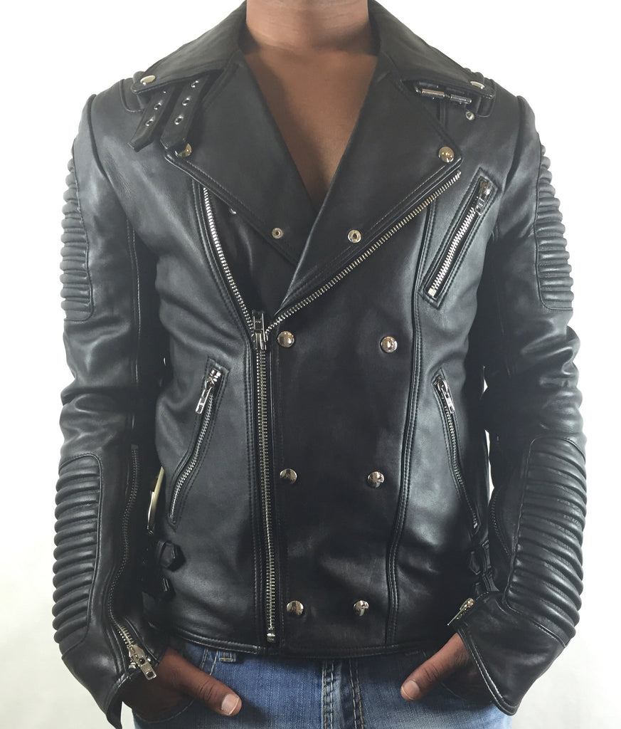 Mason & Copper Lamb Skin Motor Cycle Jacket - Dudes Boutique - 3