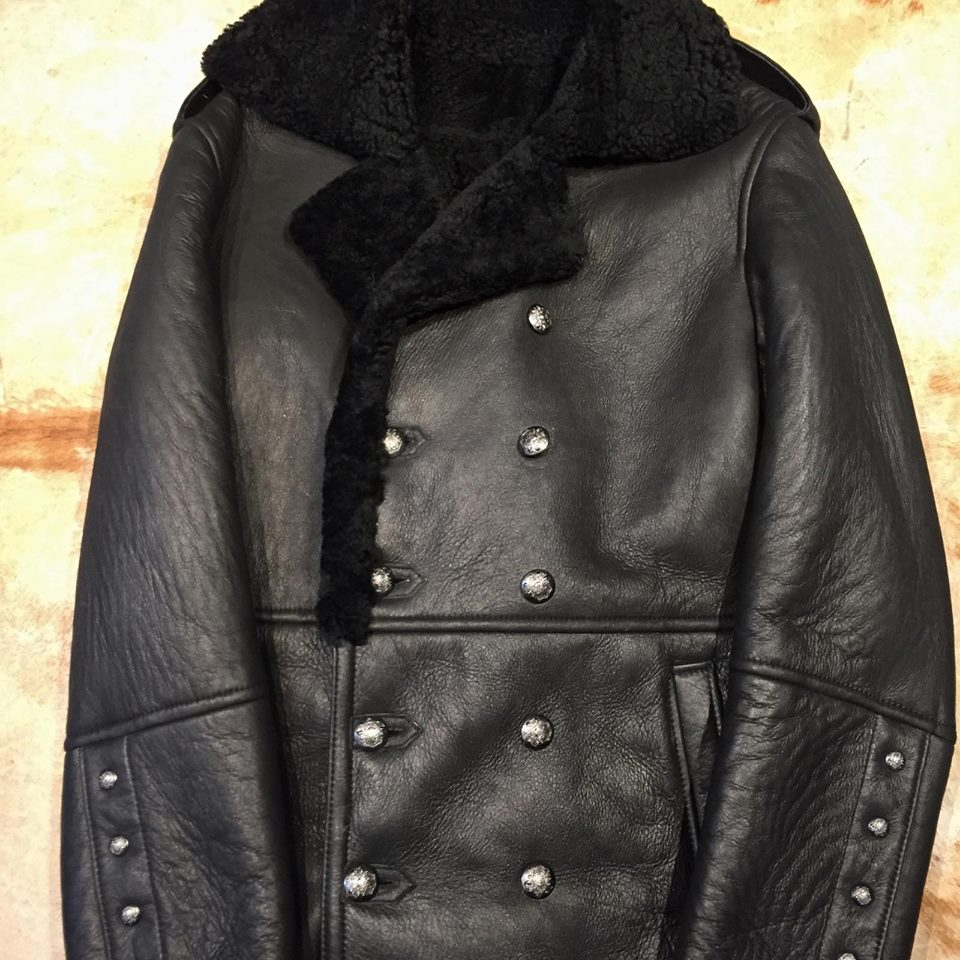 Black Shearling Jacket - Dudes Boutique