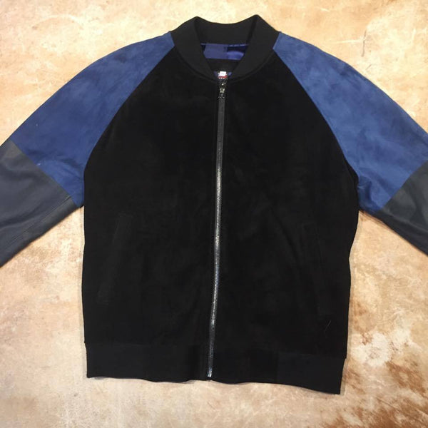 Jakewood Jungle Suede 3tone Gradient Bomber Jacket