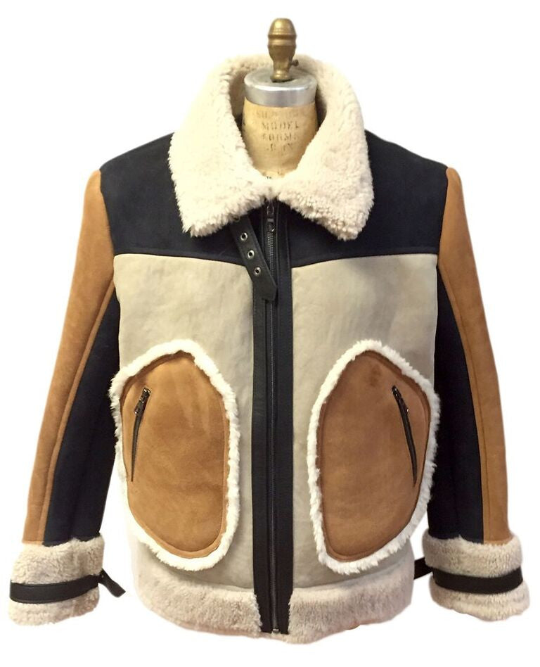 Jakewood - 710 Tobacco & Cream Shearling Bomber Jacket - Dudes Boutique - 1