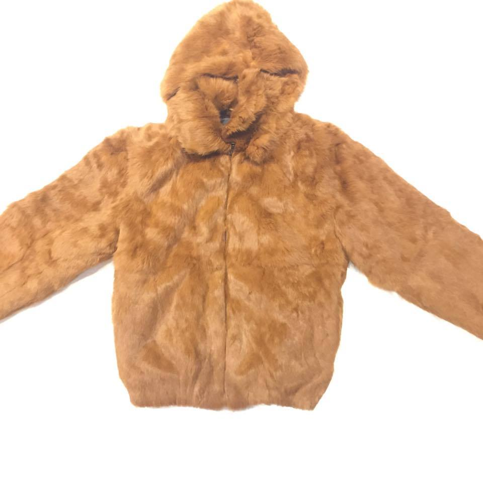 Winter Fur Women's Whiskey Rabbit Fur Jacket - Dudes Boutique
