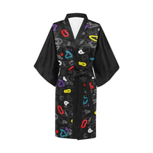 Load image into Gallery viewer, TRND Noir Camo Kimono Robe