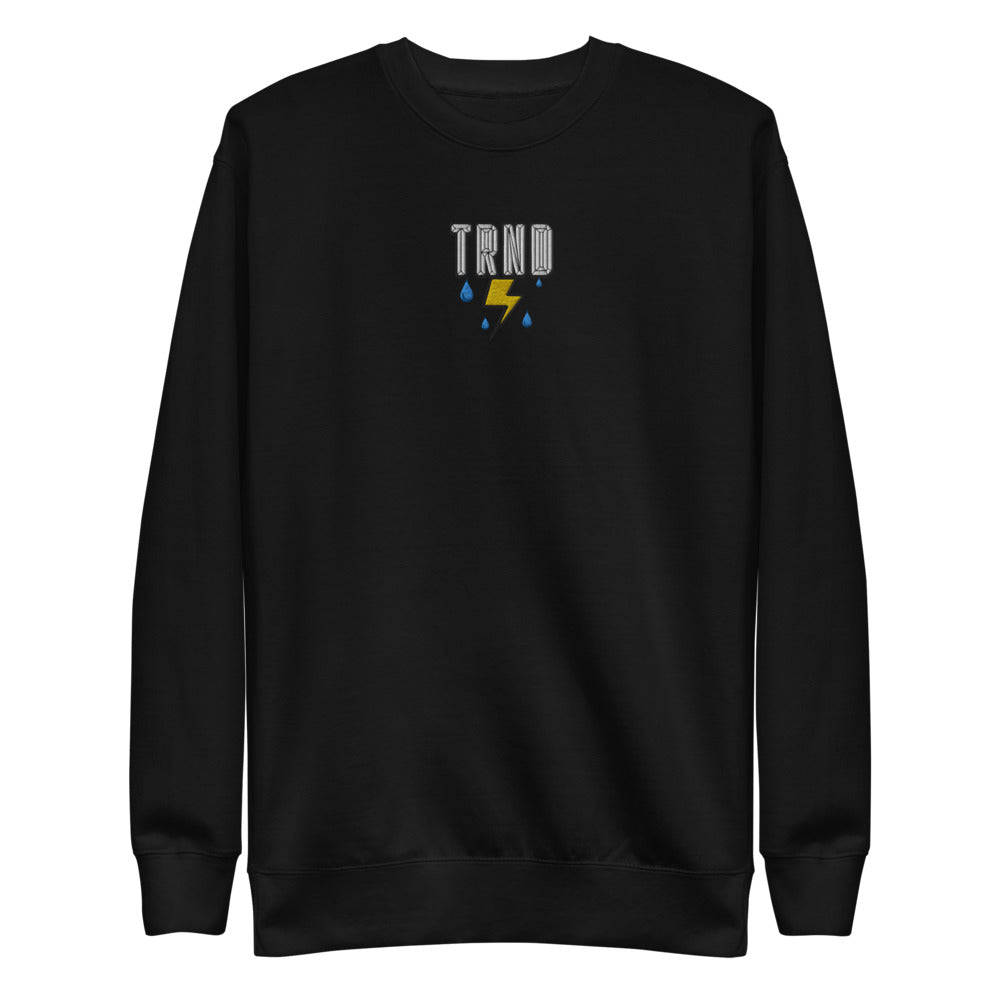 TRND Cloudy Bolt Embroidered Pullover