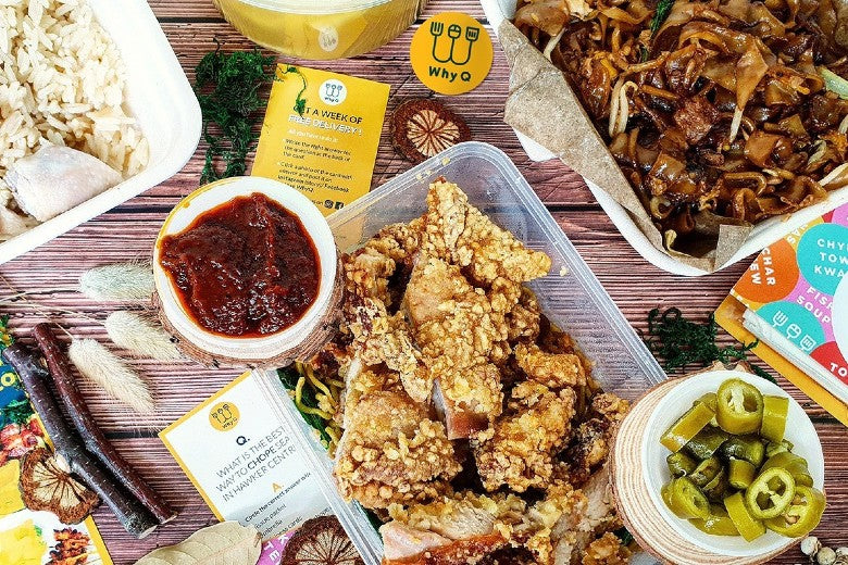 Best for Hawker Food Delivery: WhyQ (halal and vegetarian food delivery available)