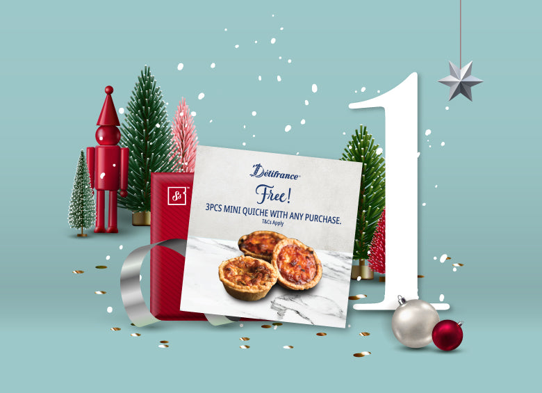 Delifrance Complimentary Mini-Quiche Voucher for Christmas Party