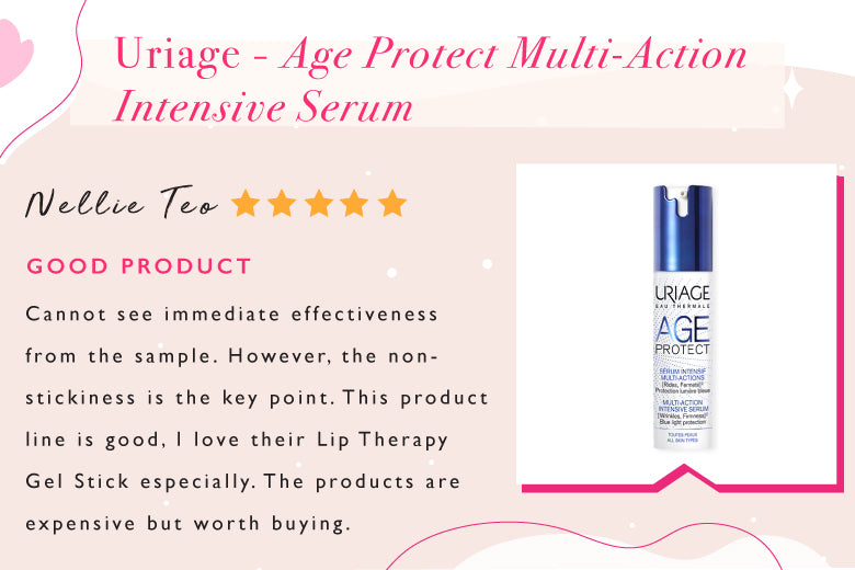 Uriage Age Protect Multi-Action Intensive Serum, the only Blue Light Protection for your skin that reduces the appearance of fine lines and wrinkles & helps prevent dark spots and restores skin vitality and radiance.