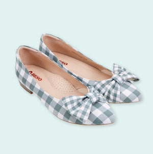 BESO Plaid Bowknot Flat Shoes