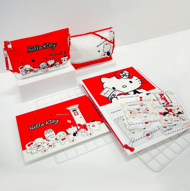 Hello Kitty 45th Anniversary MyStamp Folder with Sling Pouch