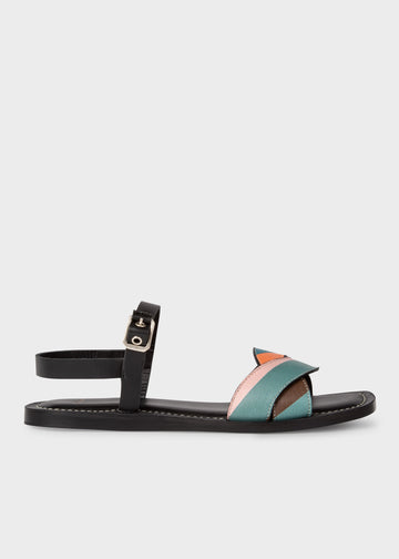 Paul Smith Black and Swirl Leather