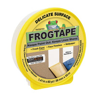 FrogTape® Delicate Surface Painter's Tape - Yellow, 1.41 in. x 60 yd.