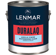DuraLaq® Waterborne Acrylic Clear Finish - Dull Rubbed 1WB.102