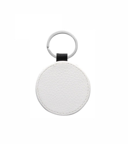1 Lot (10 Pieces) - PU Leather Sublimation Keychains Double Sided (Round)