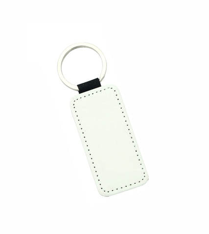 1 Lot (10 Pieces) - PU Leather Sublimation Keychains Double Sided (Rectangle)