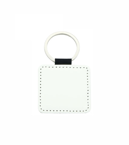 1 lot (10 Pieces) - PU Leather Sublimation Keychains Double Sided (Square)