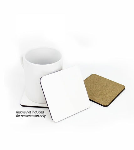 1 pack (10 Pieces) - Sublimation Blank MDF Wood Square Coasters with cork