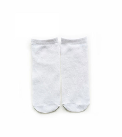 1 Lot (10 Pairs) - High Quality Sublimation Blank White Polyester Socks (Short) 20*7.5cm