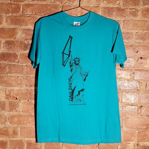 Dah Shop Statue of Liberty T-Shirt (Turquoise)