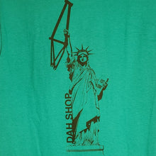 Load image into Gallery viewer, Dah Shop Statue of Liberty T-Shirt (Turquoise)