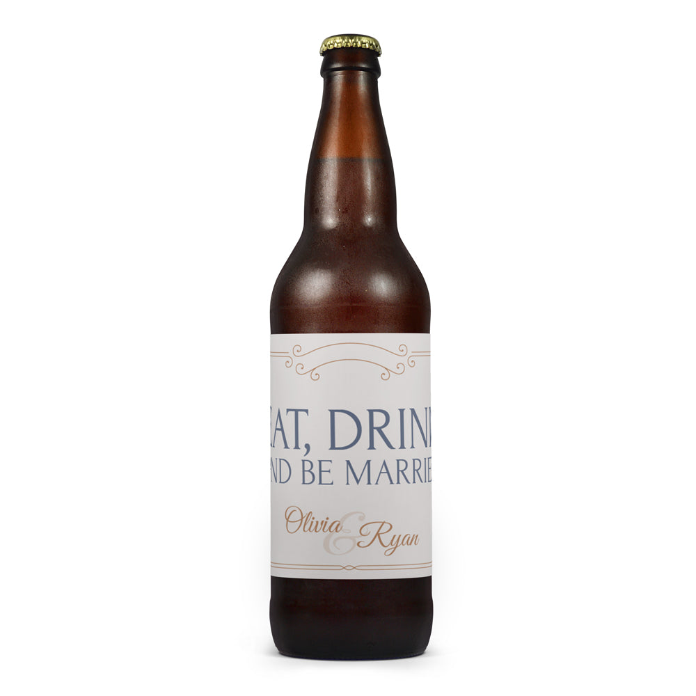 Free Gold Wedding Beer Label Downloads