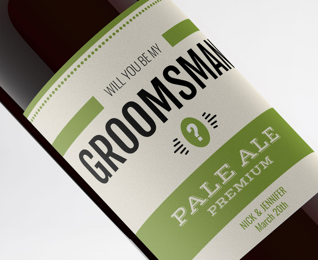 "Free ""Will You Be My Groomsman?"" Beer Labels"
