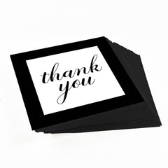Black Elegant Script Thank You Stickers for party favors