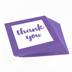 Royal Purple Thank you stickers for party favors
