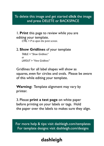 Template And Printing Faqs Dashleigh