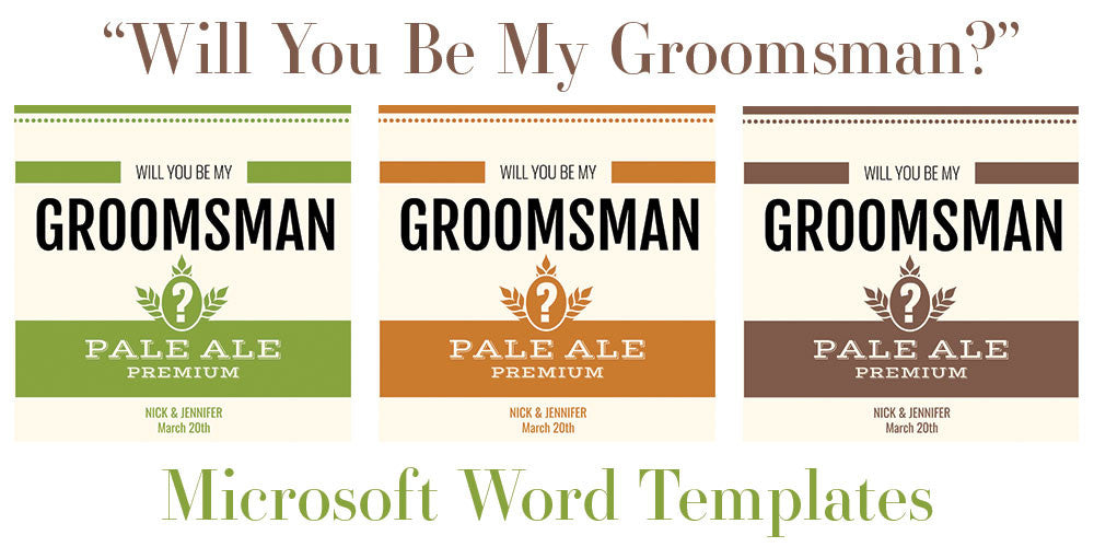 Free Microsoft Word Templates For Beer Bottles Will You Be My