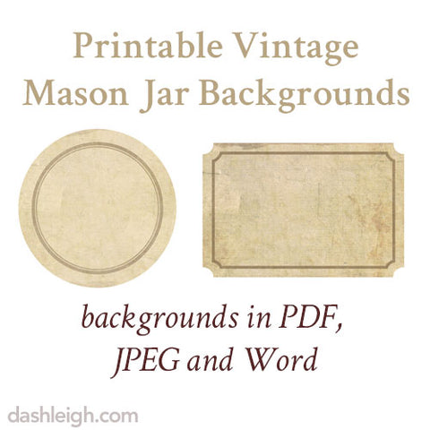 Free vintage mason jar label downloads and templates dashleigh free vintage mason jar label downloads maxwellsz