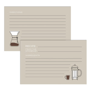 Retro Coffee Recipe Cards, Water Resistant - Recipe Card- dashleigh