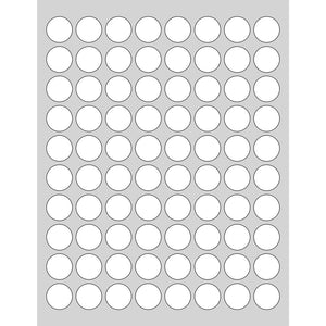 400 Waterproof Labels for Gram Sample Jars, .875 in. - Labels- dashleigh