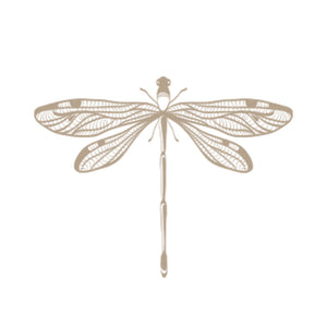 Gold Dragonfly Recipe Cards, Water Resistant - Recipe Card- dashleigh