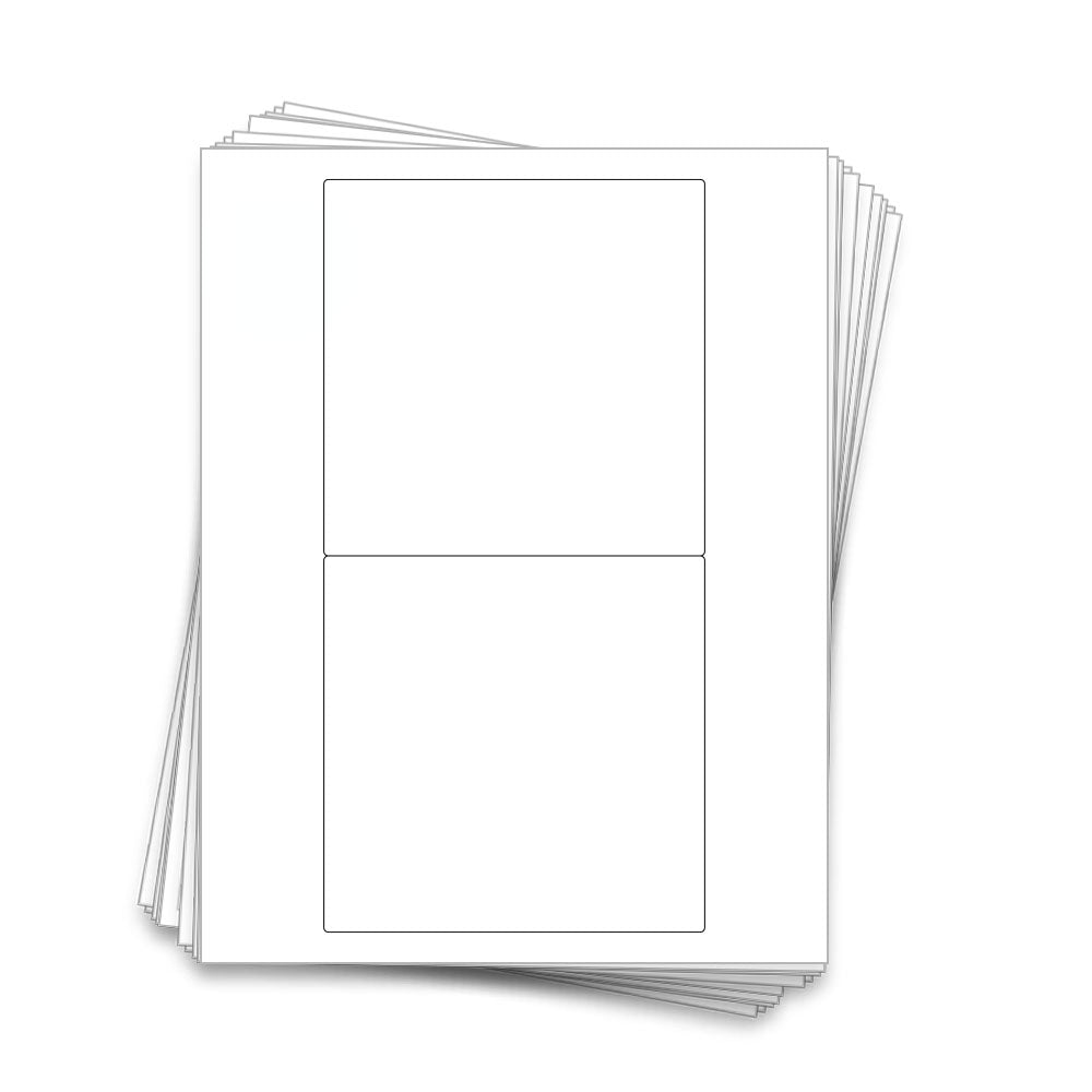 20 Chocolate Candy Bar Labels, 5.3 x 5.25 in, White