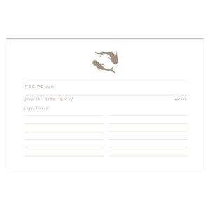 Gold Koi Recipe Cards, Water Resistant - Recipe Card- dashleigh