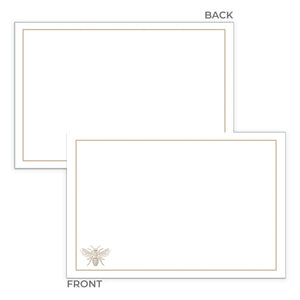 Gold Bee Notecards, 4 x 6 inches, Set of 48 - Stationery- dashleigh