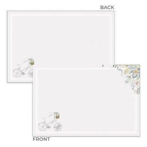 Bicycle Notecards, 4 x 6 inches, Set of 48 - Stationery- dashleigh
