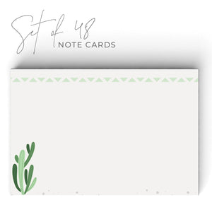Cactus Notecards, 4 x 6 inches, Set of 48 - Stationery- dashleigh