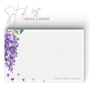 Lilac Notecards, 4 x 6 inches, Set of 48 - Stationery- dashleigh