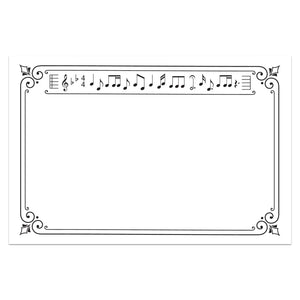 Music Notecards, 4 x 6 inches, Set of 48 - Stationery- dashleigh