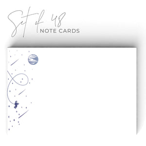 Colorful Space Notecards, 4 x 6 inches, Set of 48 - Stationery- dashleigh